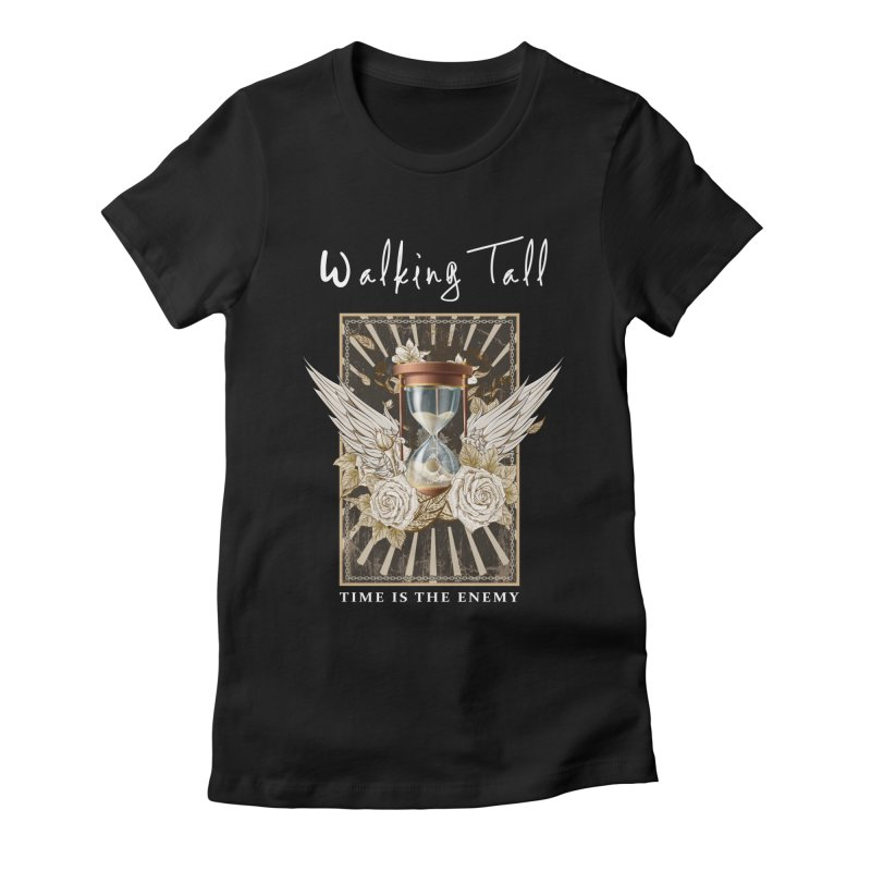 Ladies RosesnWings Walking Tall T - Shirt Women's Fitted T-Shirt by Walking Tall - Band Merch Shop