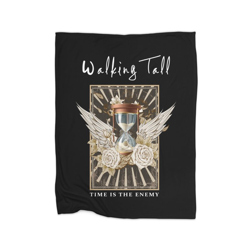 Ladies RosesnWings Walking Tall T - Shirt Home Fleece Blanket Blanket by Walking Tall - Band Merch Shop