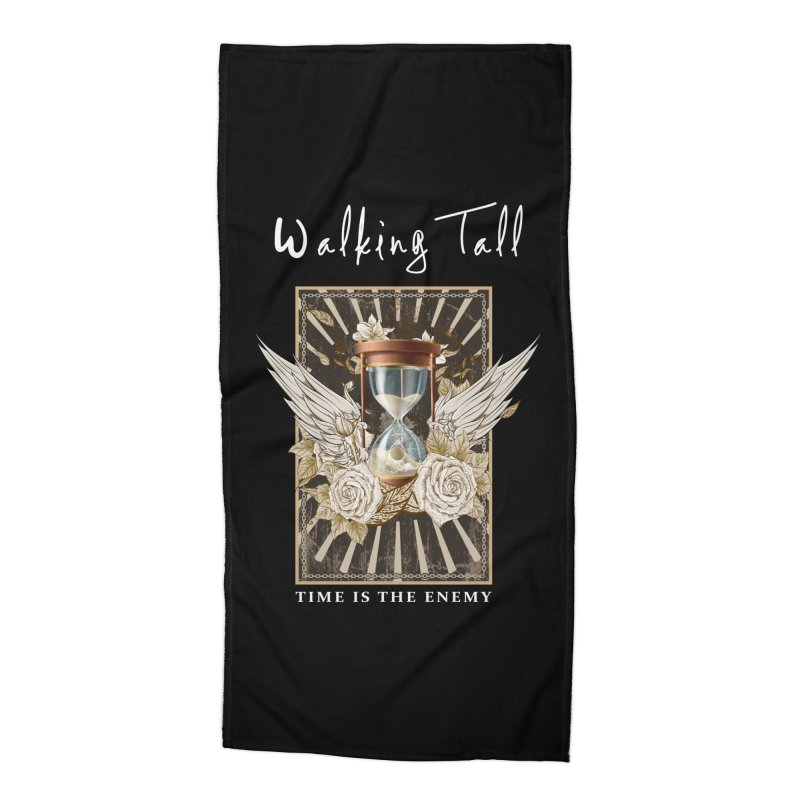 Ladies RosesnWings Walking Tall T - Shirt Accessories Beach Towel by Walking Tall - Band Merch Shop