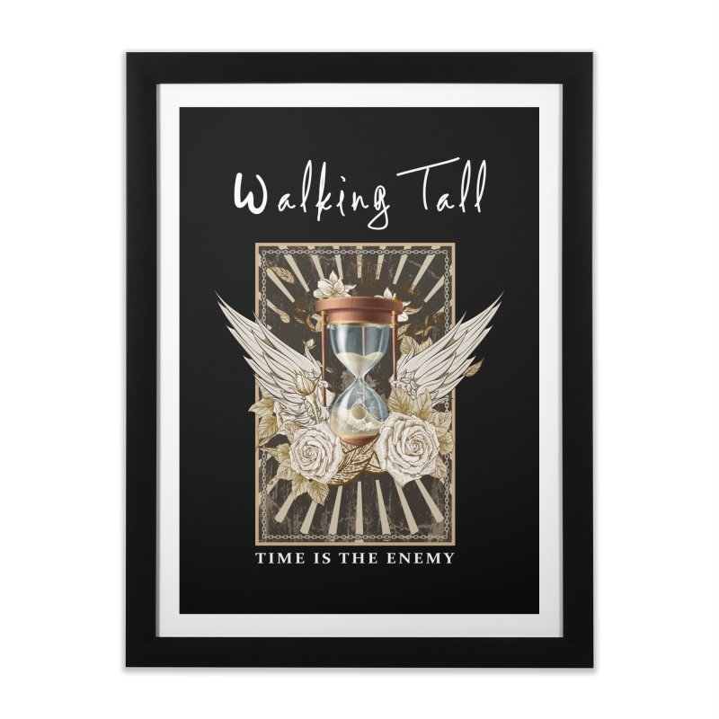 Ladies RosesnWings Walking Tall T - Shirt Home Framed Fine Art Print by Walking Tall - Band Merch Shop