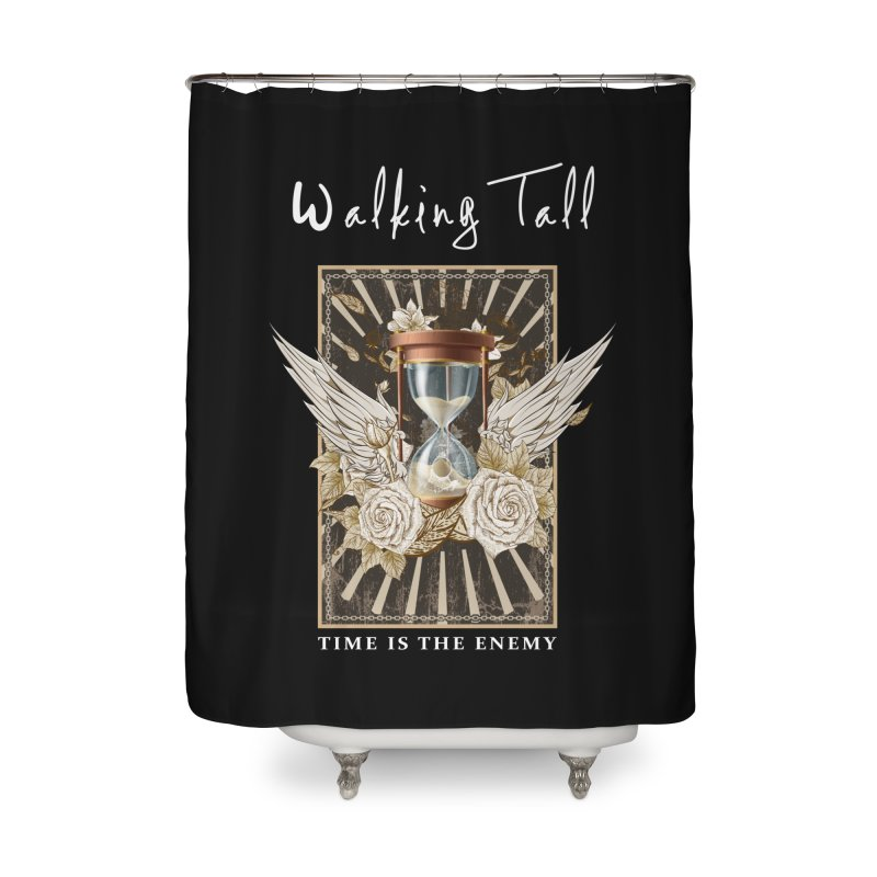 Ladies RosesnWings Walking Tall T - Shirt Home Shower Curtain by Walking Tall - Band Merch Shop