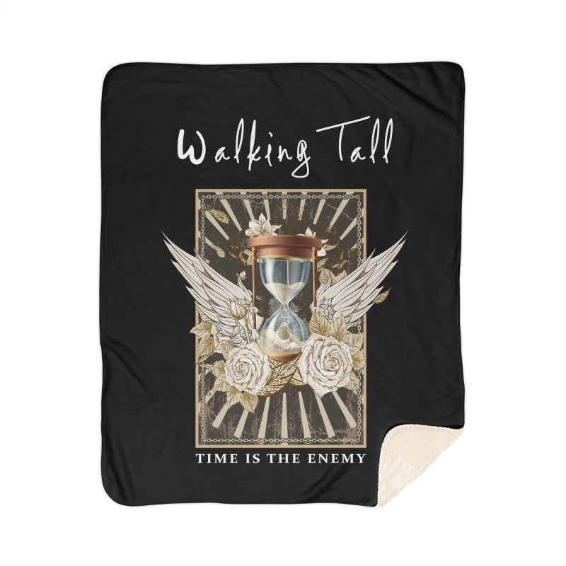 Ladies RosesnWings Walking Tall T - Shirt Home Sherpa Blanket Blanket by Walking Tall - Band Merch Shop