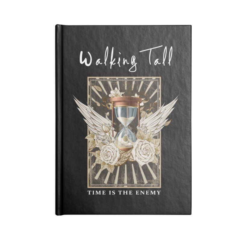 Ladies RosesnWings Walking Tall T - Shirt Accessories Blank Journal Notebook by Walking Tall - Band Merch Shop