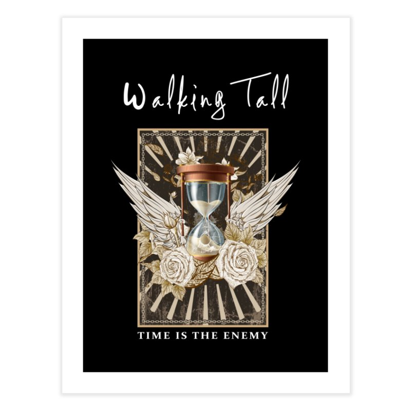 Ladies RosesnWings Walking Tall T - Shirt Home Fine Art Print by Walking Tall - Band Merch Shop