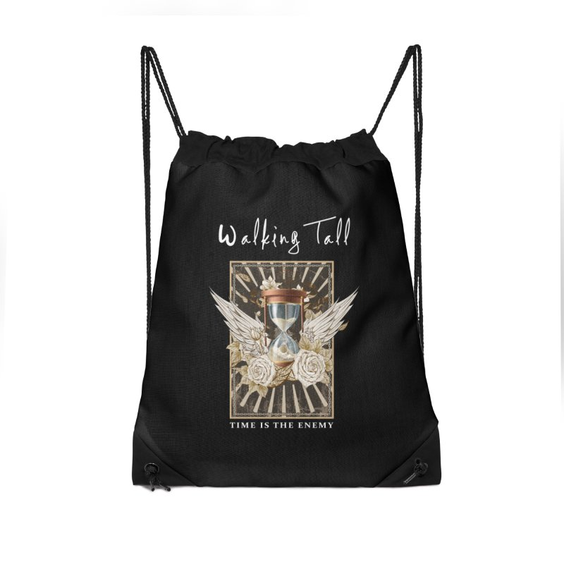 Ladies RosesnWings Walking Tall T - Shirt Accessories Drawstring Bag Bag by Walking Tall - Band Merch Shop