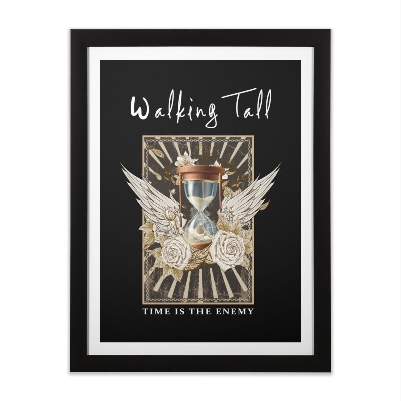 Ladies RosesnWings Walking Tall T - Shirt Home Framed Fine Art Print by Walking Tall - Band Merch Shop