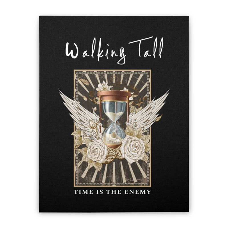 Ladies RosesnWings Walking Tall T - Shirt Home Stretched Canvas by Walking Tall - Band Merch Shop