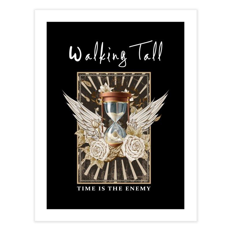 Ladies RosesnWings Walking Tall T - Shirt Home Fine Art Print by Walking Tall - Band Merch Shop