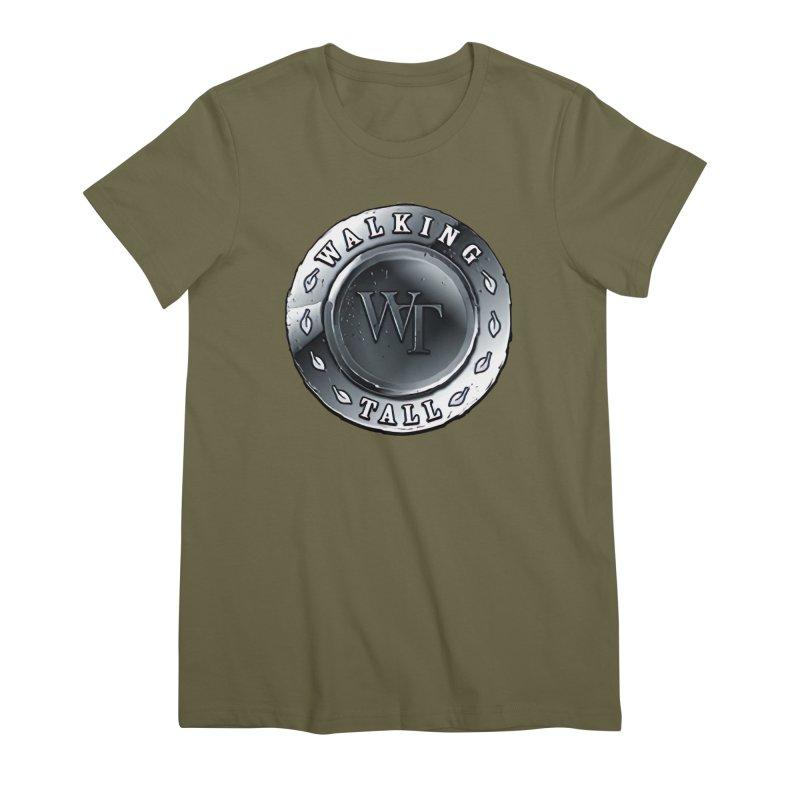 Walking Tall Crest Women's Premium T-Shirt by Walking Tall - Band Merch Shop