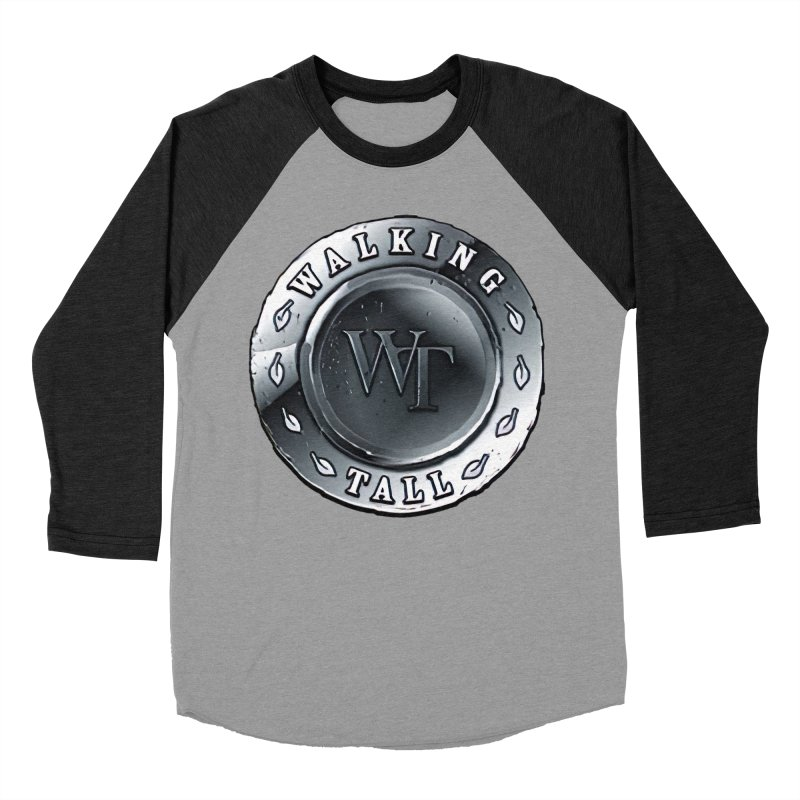 Walking Tall Crest Men's Baseball Triblend Longsleeve T-Shirt by Walking Tall - Band Merch Shop