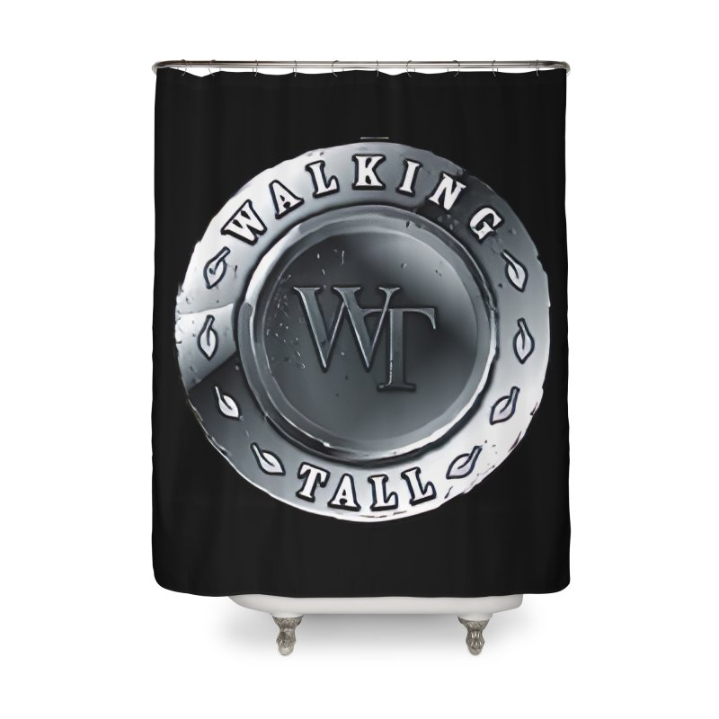 Walking Tall Crest Home Shower Curtain by Walking Tall - Band Merch Shop