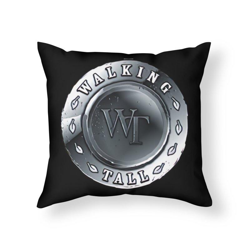 Walking Tall Crest Home Throw Pillow by Walking Tall - Band Merch Shop