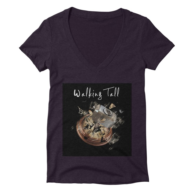 Hammered Time Women's Deep V-Neck V-Neck by Walking Tall - Band Merch Shop