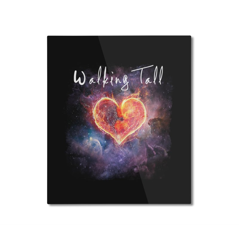 Universal Love Home Mounted Aluminum Print by Walking Tall - Band Merch Shop