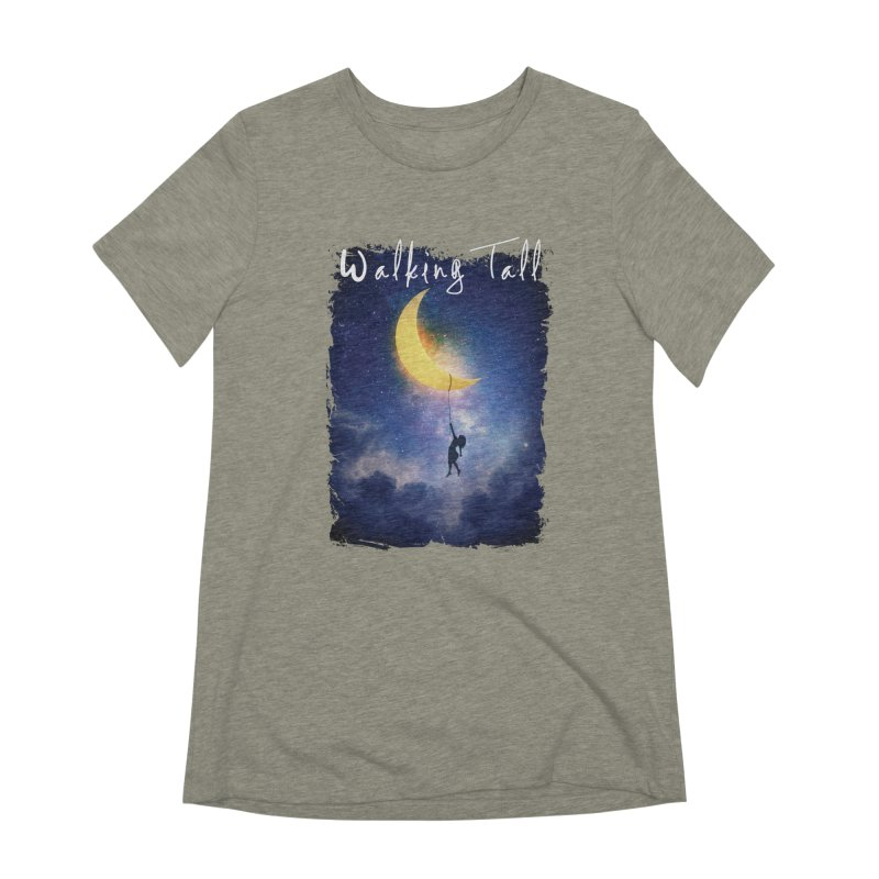Moon And The Stars Women's Extra Soft T-Shirt by Walking Tall - Band Merch Shop