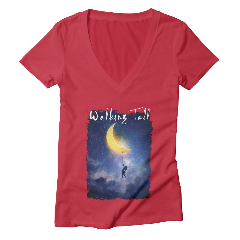 Moon And The Stars Women's Deep V-Neck V-Neck by Walking Tall - Band Merch Shop