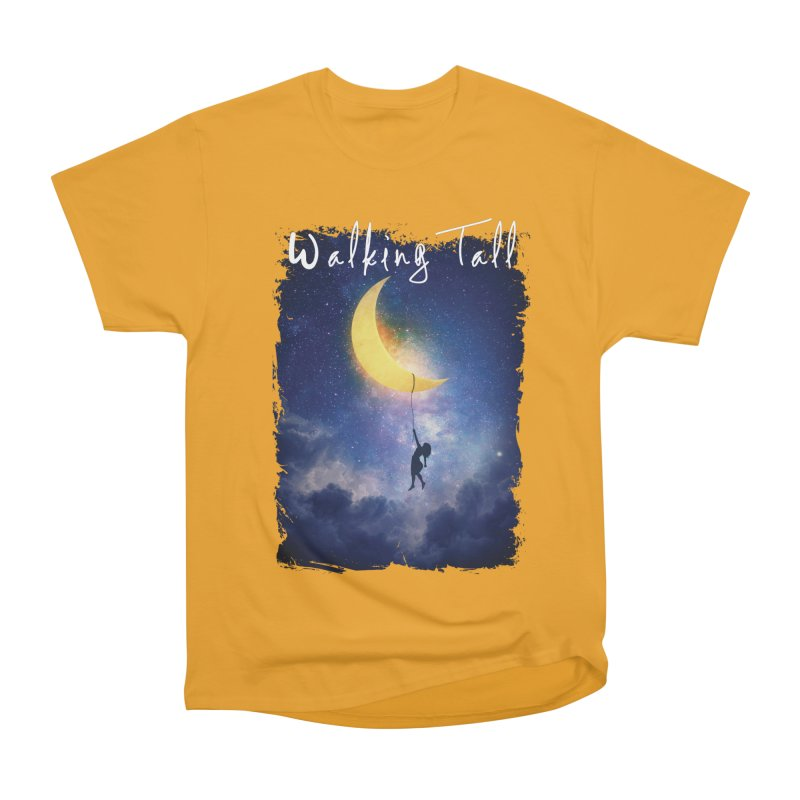 Moon And The Stars Women's Heavyweight Unisex T-Shirt by Walking Tall - Band Merch Shop