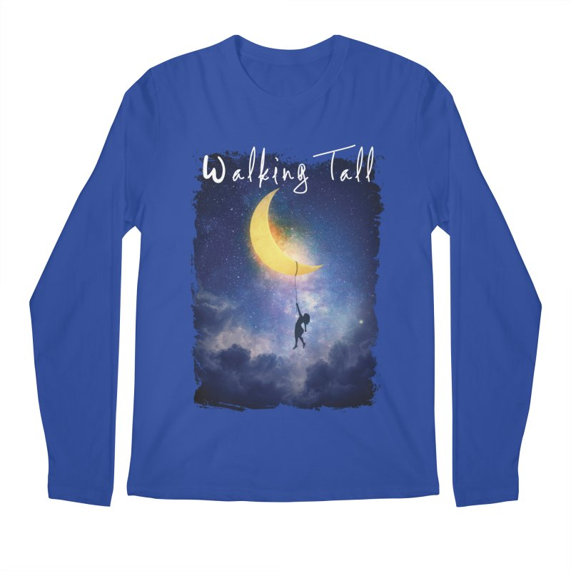 Moon And The Stars Men's Regular Longsleeve T-Shirt by Walking Tall - Band Merch Shop