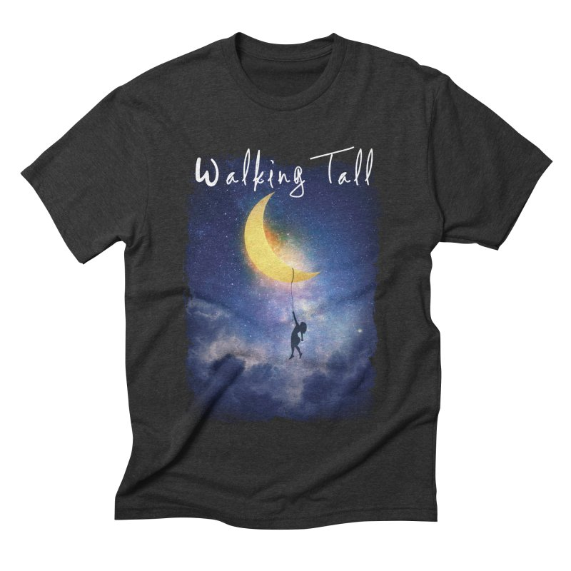 Moon And The Stars Men's Triblend T-Shirt by Walking Tall - Band Merch Shop