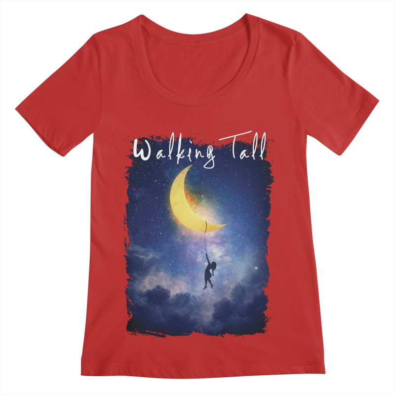 Moon And The Stars Women's Regular Scoop Neck by Walking Tall - Band Merch Shop