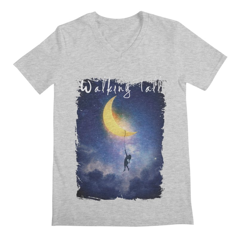 Moon And The Stars Men's Regular V-Neck by Walking Tall - Band Merch Shop