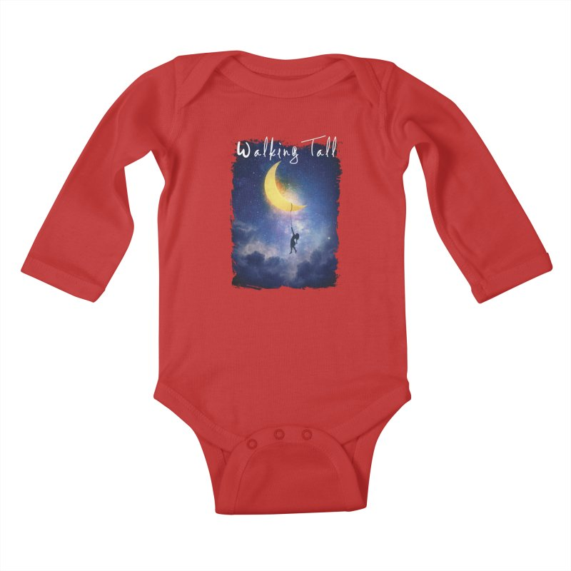 Moon And The Stars Kids Baby Longsleeve Bodysuit by Walking Tall - Band Merch Shop