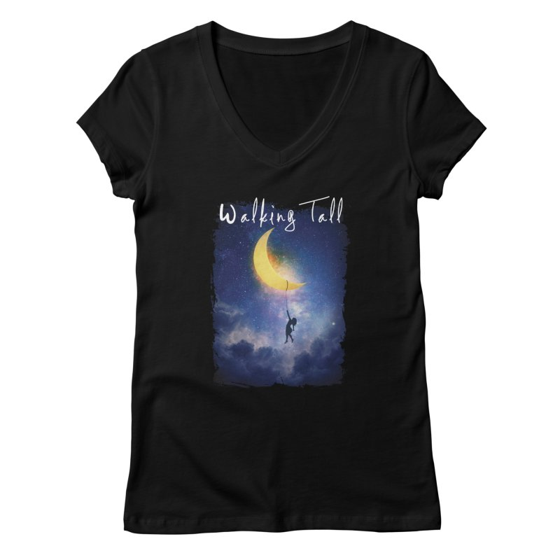 Moon And The Stars Women's V-Neck by Walking Tall - Band Merch Shop