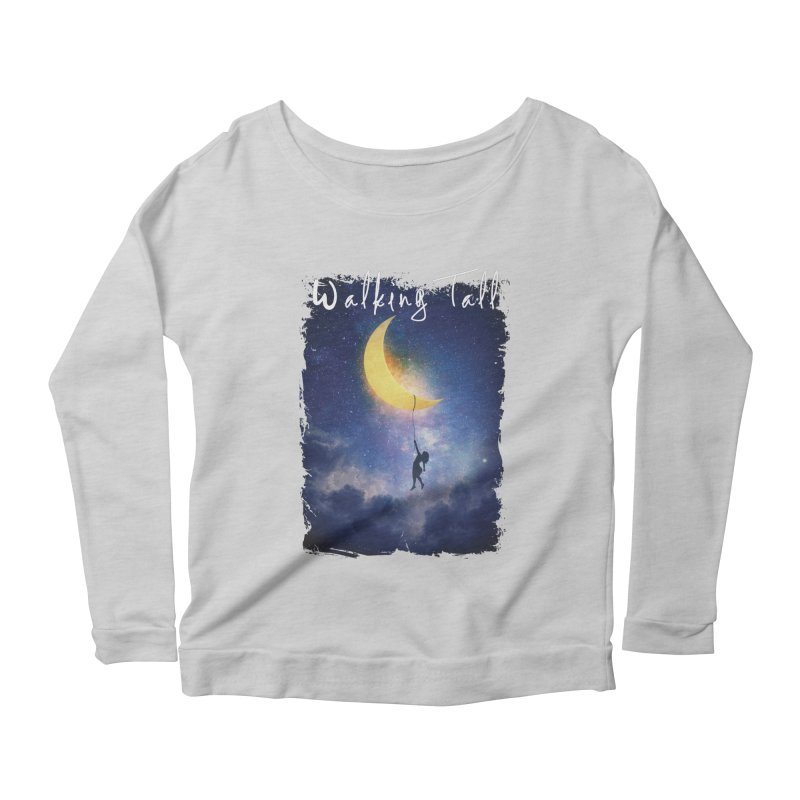 Moon And The Stars Women's Scoop Neck Longsleeve T-Shirt by Walking Tall - Band Merch Shop