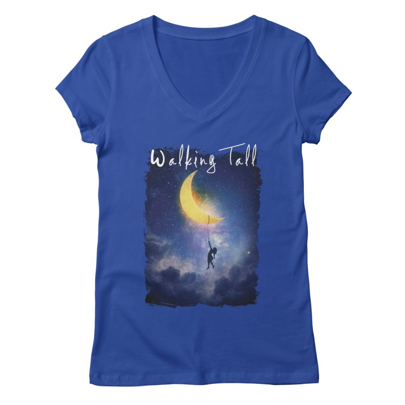 Moon And The Stars Women's Regular V-Neck by Walking Tall - Band Merch Shop