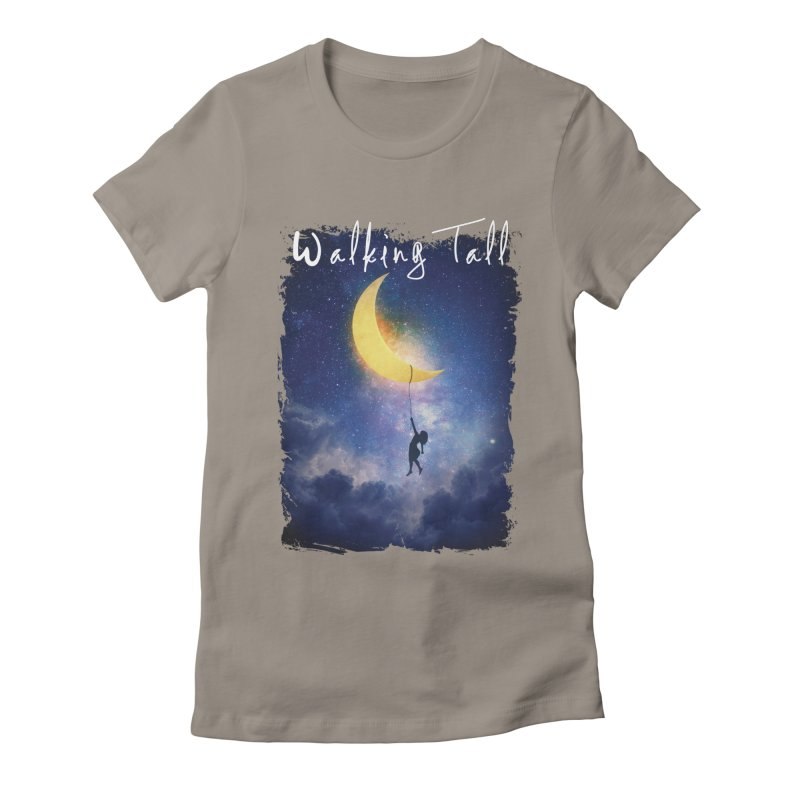 Moon And The Stars Women's Fitted T-Shirt by Walking Tall - Band Merch Shop