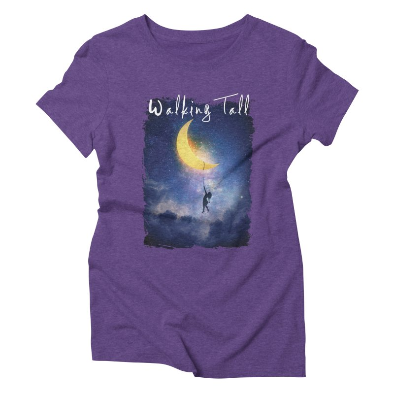 Moon And The Stars Women's Triblend T-Shirt by Walking Tall - Band Merch Shop