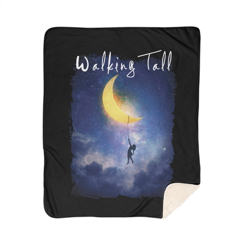 Moon And The Stars Home Sherpa Blanket Blanket by Walking Tall - Band Merch Shop