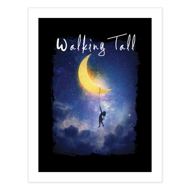 Moon And The Stars Home Fine Art Print by Walking Tall - Band Merch Shop