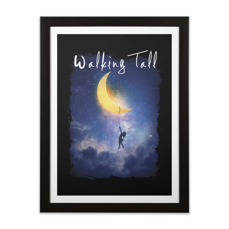 Moon And The Stars Home Framed Fine Art Print by Walking Tall - Band Merch Shop