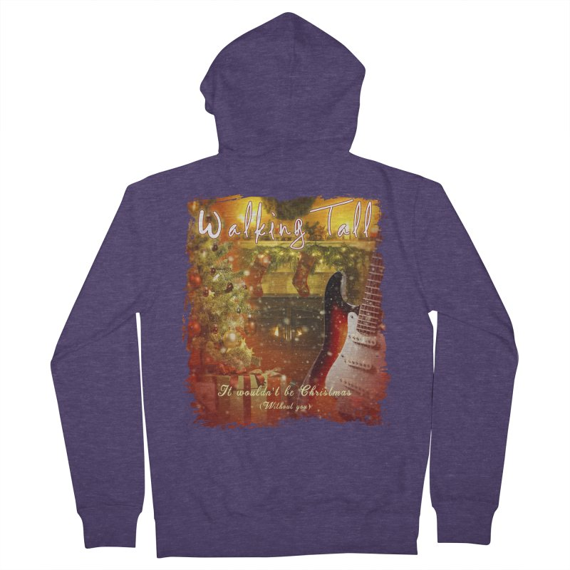 It Wouldn't Be Christmas (Without You) Men's French Terry Zip-Up Hoody by Walking Tall - Band Merch Shop
