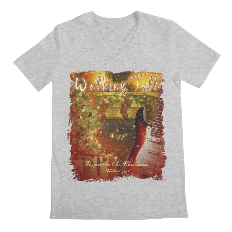 It Wouldn't Be Christmas (Without You) Men's Regular V-Neck by Walking Tall - Band Merch Shop