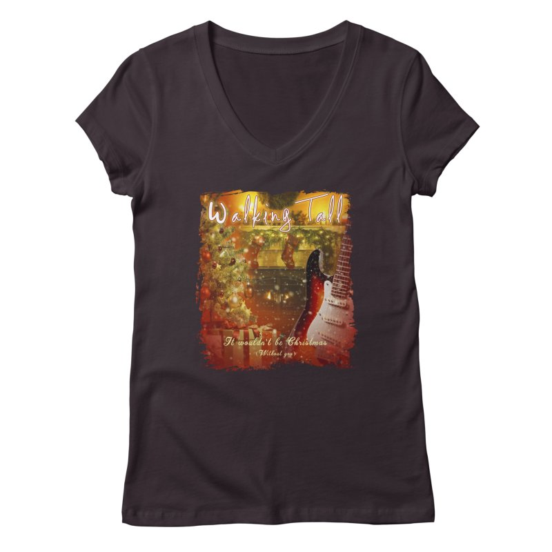 It Wouldn't Be Christmas (Without You) Women's Regular V-Neck by Walking Tall - Band Merch Shop