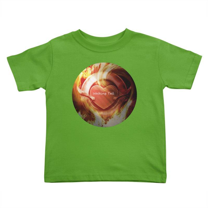 Walking Tall - Burning Heart Kids Toddler T-Shirt by Walking Tall - Band Merch Shop