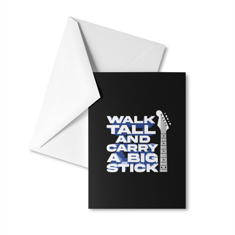Musicians T-Shirt:WalkTall Accessories Greeting Card by Walking Tall - Band Merch Shop