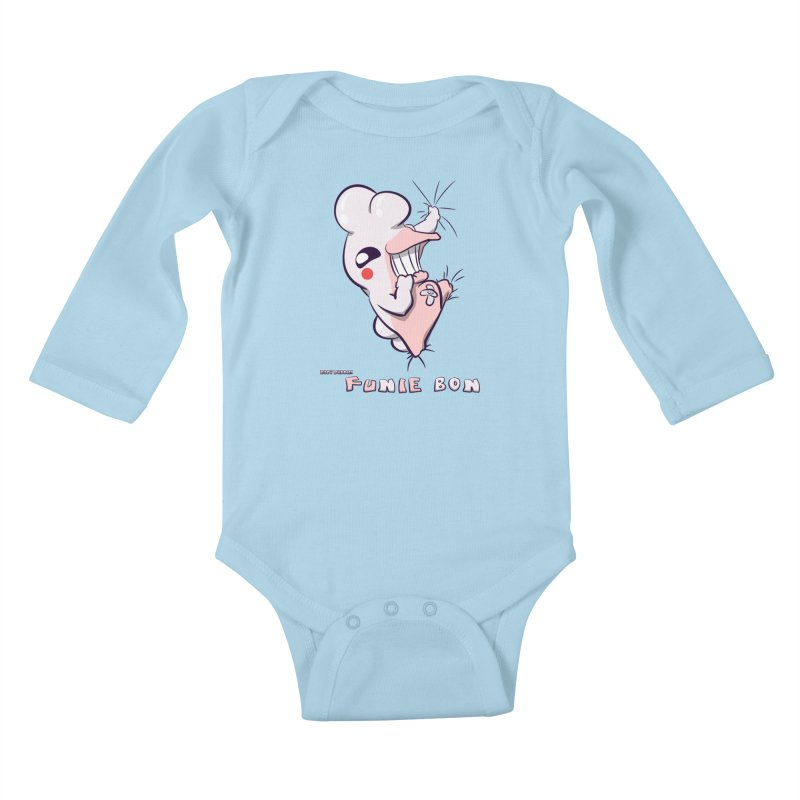 Body Buddies// Funie Bon Kids Baby Longsleeve Bodysuit by Wally's Shirt Shop
