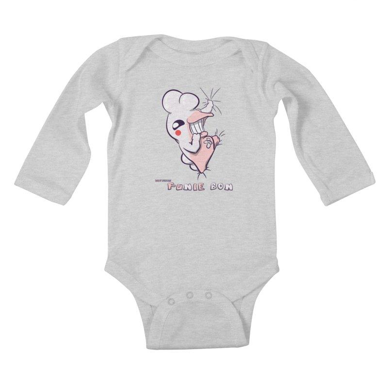 Body Buddies// Funie Bon Kids Baby Longsleeve Bodysuit by Wally's Shirt Shop