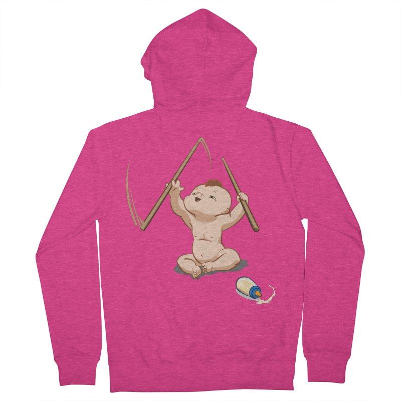 Born Makin' Beats Women's Zip-Up Hoody by Wally's Shirt Shop