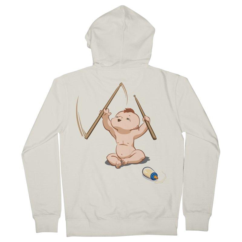 Born Makin' Beats Men's Zip-Up Hoody by Wally's Shirt Shop