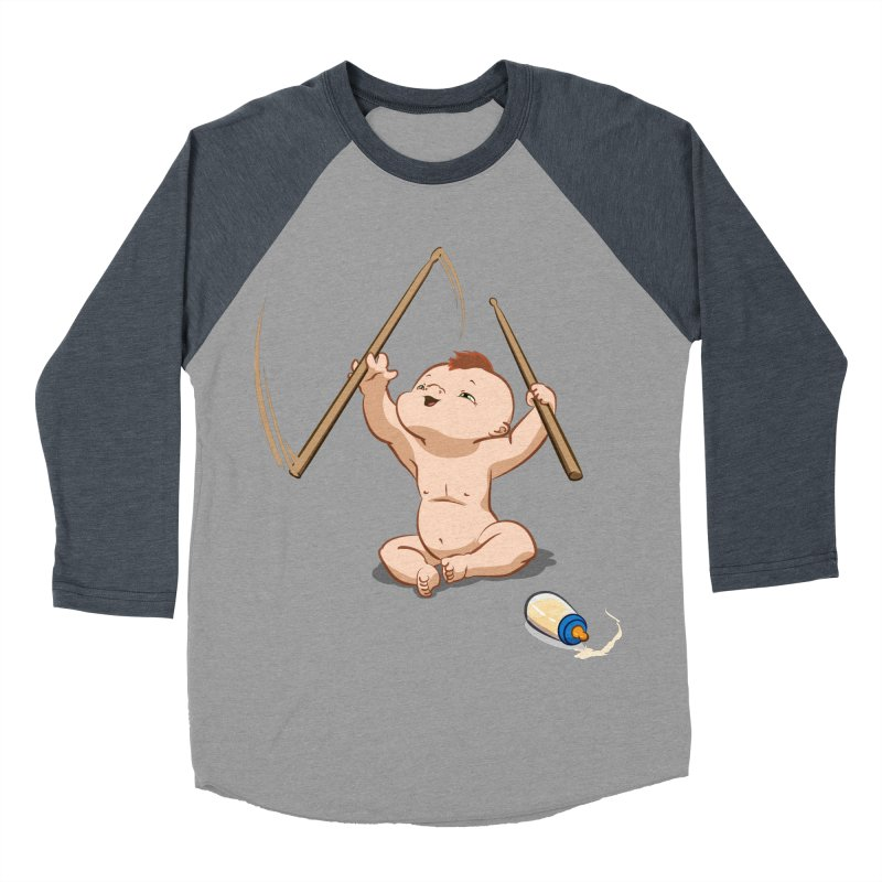 Born Makin' Beats Men's Baseball Triblend T-Shirt by Wally's Shirt Shop