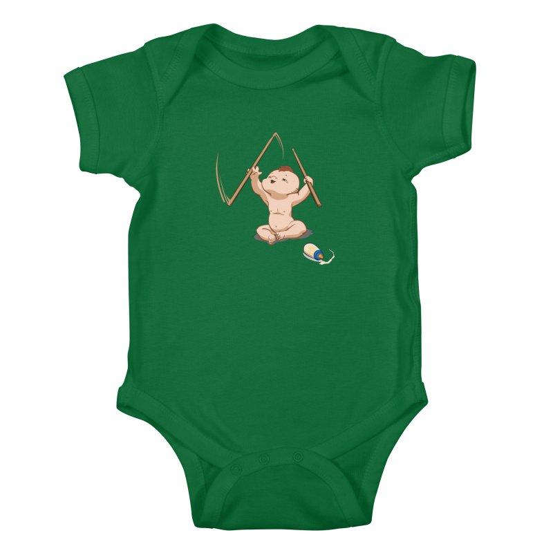 Born Makin' Beats Kids Baby Bodysuit by Wally's Shirt Shop