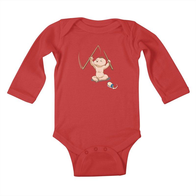 Born Makin' Beats Kids Baby Longsleeve Bodysuit by Wally's Shirt Shop