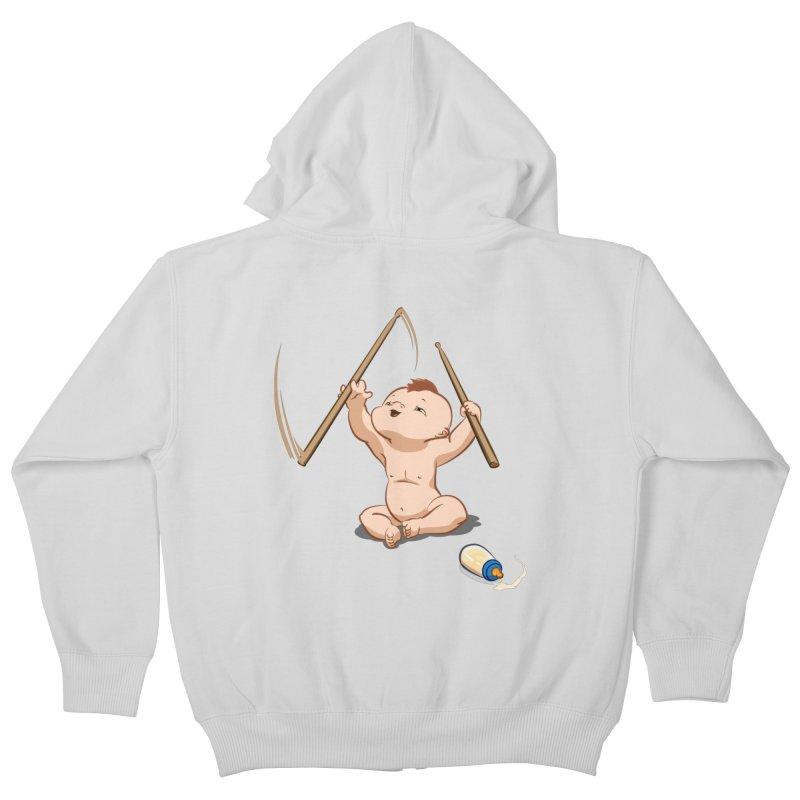 Born Makin' Beats Kids Zip-Up Hoody by Wally's Shirt Shop