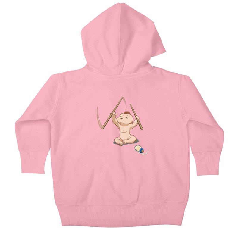 Born Makin' Beats Kids Baby Zip-Up Hoody by Wally's Shirt Shop