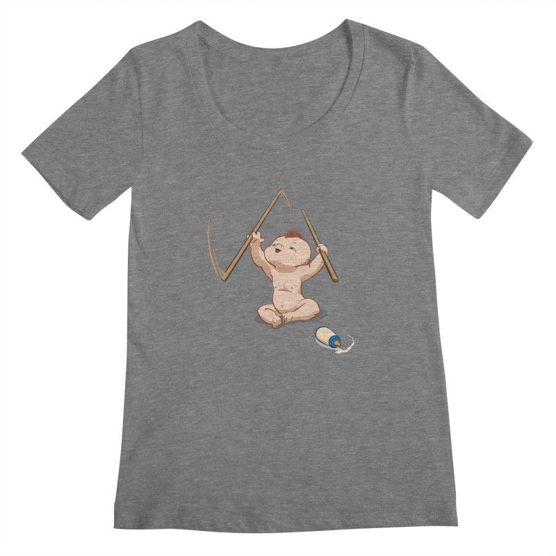 Born Makin' Beats Women's Scoopneck by Wally's Shirt Shop