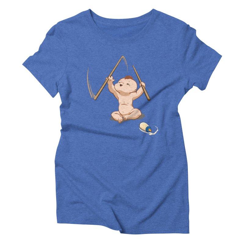 Born Makin' Beats Women's Triblend T-shirt by Wally's Shirt Shop